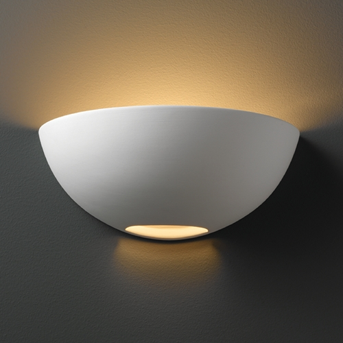 Justice Design Group Sconce Wall Light in Bisque Finish CER-1320-BIS