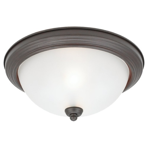 Sea Gull Lighting Sea Gull Lighting Ceiling Flush Mount Misted Bronze LED Flushmount Light 77064S-814