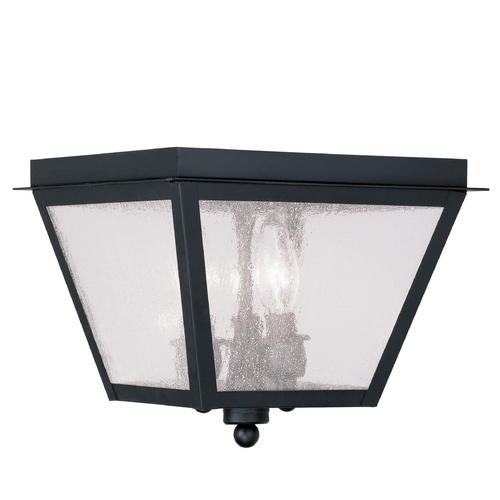 Livex Lighting Livex Lighting Amwell Black Close To Ceiling Light 2549-04