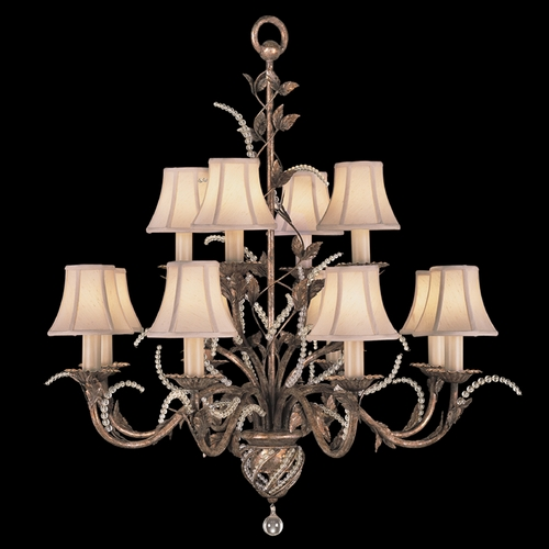 Fine Art Lamps Fine Art Lamps a Midsummer Nights Dream Cool Moonlit Patina Crystal Chandelier 138540ST