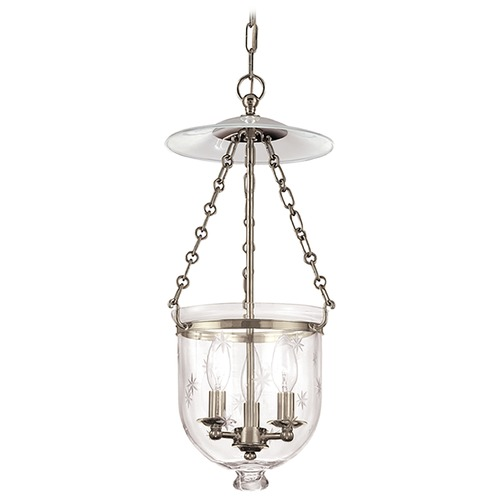 Hudson Valley Lighting Hudson Valley Lighting Hampton Historic Nickel Pendant Light with Bowl / Dome Shade 252-HN-C3