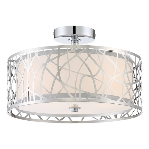 Quoizel Lighting Quoizel Lighting Platinum Collection Abode Polished Chrome Semi-Flushmount Light PCAE1715C