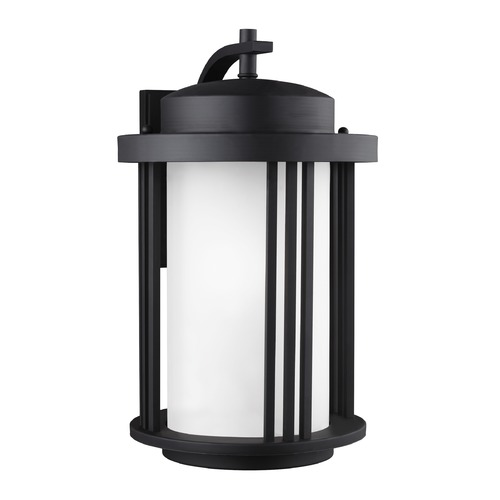 Sea Gull Lighting Sea Gull Crowell Black Outdoor Wall Light 8847901-12