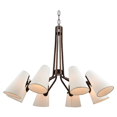 Hudson Valley Lighting Mid-Century Modern Chandelier Bronze Patten by Hudson Valley Lighting 6348-OB