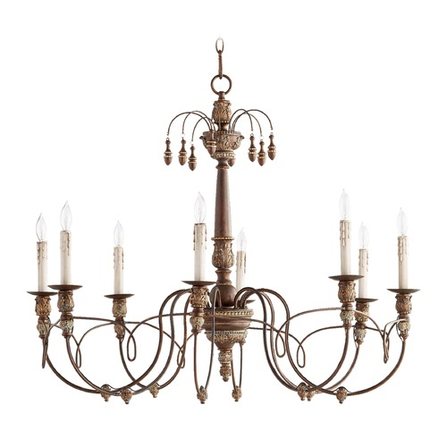 Quorum Lighting Quorum Lighting Salento Vintage Copper Chandelier 6106-8-39