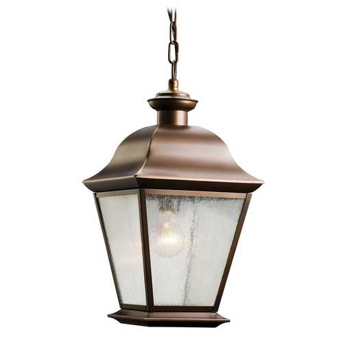 Kichler Lighting Kichler Outdoor Hanging Light with Clear Glass in Olde Bronze Finish 9809OZ