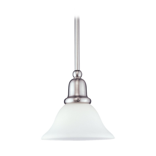 Sea Gull Lighting Mini-Pendant Light with White Glass 61060-962