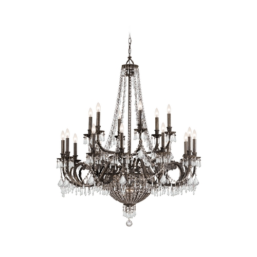 Crystorama Lighting Crystal Chandelier in English Bronze Finish 5169-EB-CL-MWP