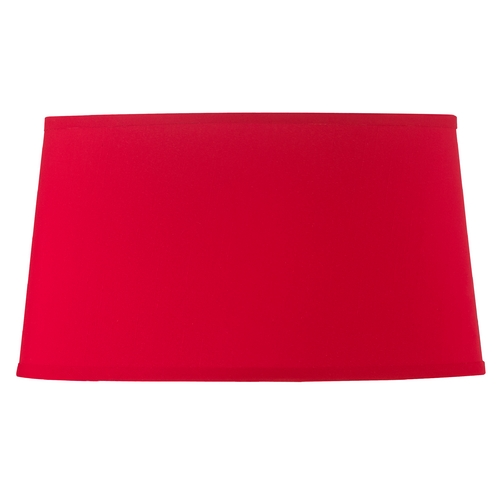 Design Classics Lighting Red Oval Lamp Shade with Spider Assembly SH7621