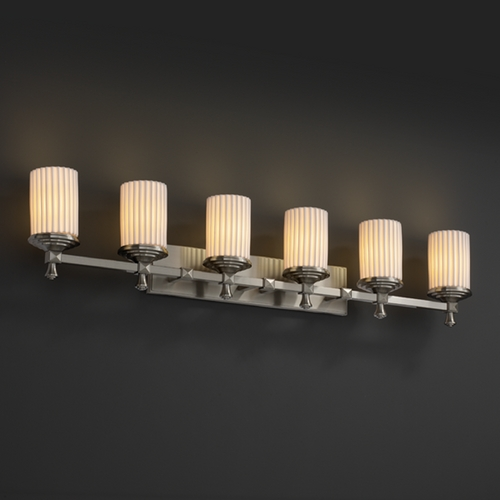 Justice Design Group Justice Design Group Limoges Collection Bathroom Light POR-8536-10-PLET-NCKL