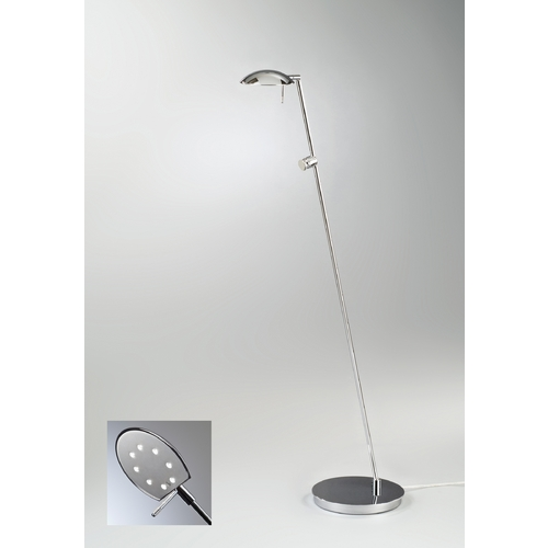 Holtkoetter Lighting Holtkoetter Modern LED Floor Lamp in Chrome Finish 6470LED CH