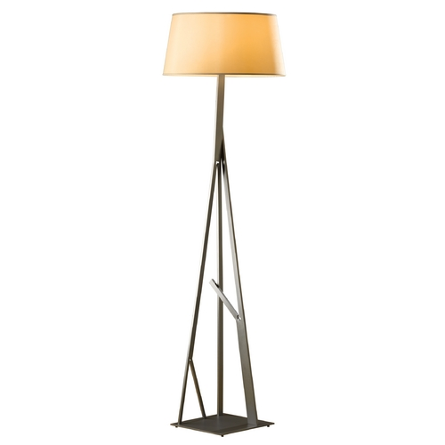Hubbardton Forge Lighting Hubbardton Forge Lighting Arbo Burnished Steel Floor Lamp with Empire Shade 247690-08-680