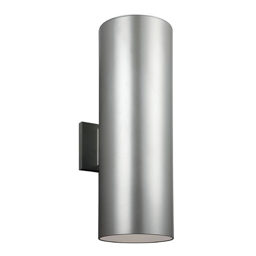Sea Gull Lighting Sea Gull Lighting Outdoor Bullets Painted Brushed Nickel LED Outdoor Wall Light 8413991S-753