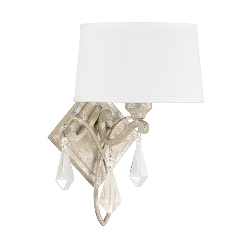 Capital Lighting Capital Lighting Harlow Silver Quartz Sconce 4491SQ-570-CR