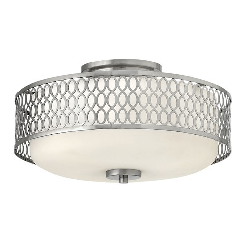 Hinkley Lighting Hinkley Lighting Jules Brushed Nickel Semi-Flushmount Light 53241BN-GU24