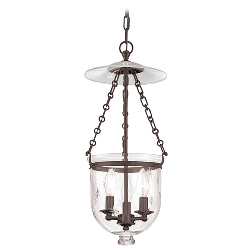 Hudson Valley Lighting Hudson Valley Lighting Hampton Old Bronze Pendant Light with Bowl / Dome Shade 252-OB-C3