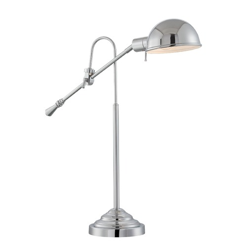 Lite Source Lighting Lite Source Chrome Pharmacy Lamp with Bowl / Dome Shade LS-22775C