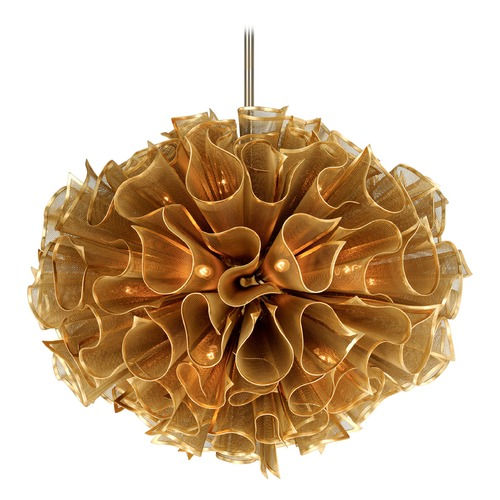 Corbett Lighting Art Deco Pendant Light Gold Pulse by Corbett Lighting 218-420