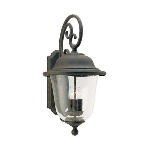 Sea Gull Lighting Seeded Glass LED Outdoor Wall Light Bronze Sea Gull Lighting 8461EN-46