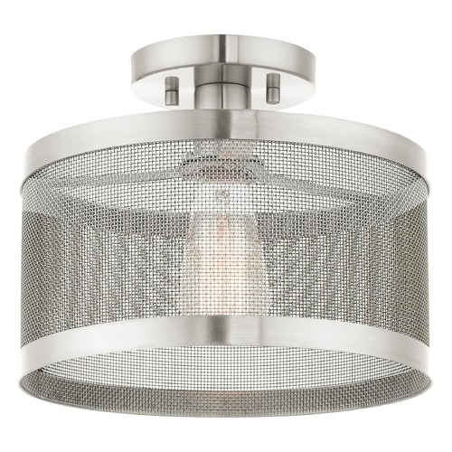Livex Lighting Livex Lighting Industro Brushed Nickel Semi-Flushmount Light 46216-91