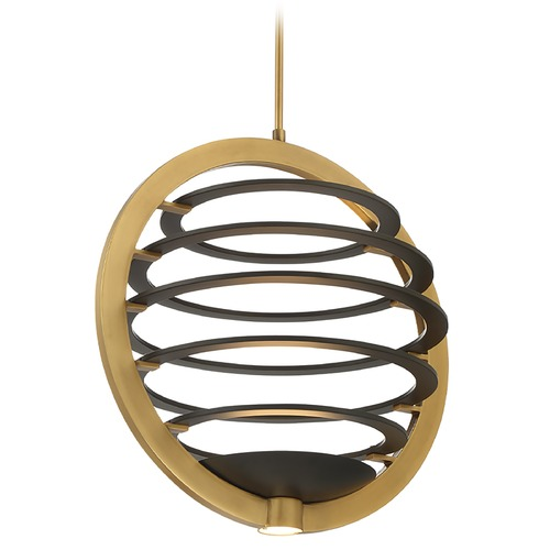 Eurofase Lighting Eurofase Lighting Ombra Brass / Black LED Pendant Light 38152-016