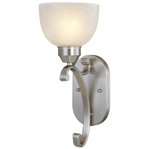 Minka Lavery Sconce in Brushed Nickel Finish - Etched Marble Glass 5420-84