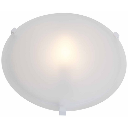 Access Lighting Modern Flushmount Light with White Glass in White Finish 50063-WH/FST