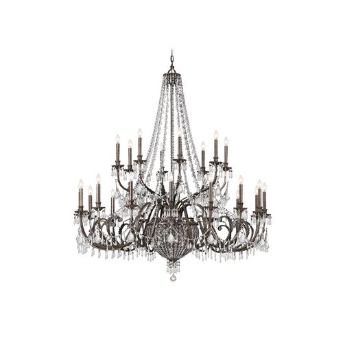 Crystorama Lighting Crystal Chandelier in English Bronze Finish 5170-EB-CL-MWP