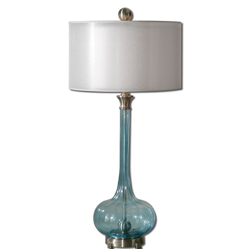 Uttermost Lighting Uttermost Junelle Blue Glass Table Lamp 27482-1