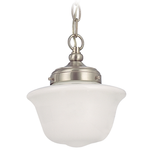 Design Classics Lighting Schoolhouse Mini-Pendant Light - 8-Inches Wide FA4-09 / GD8 / A-09