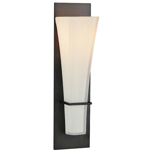 Feiss Lighting Modern Single-Light Sconce with White Glass WB1220ORB
