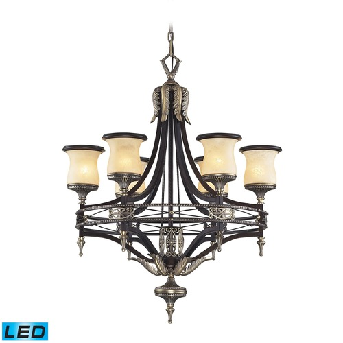 Elk Lighting Elk Lighting Georgian Court Antique Bronze, Dark Umber LED Chandelier 2431/6-LED