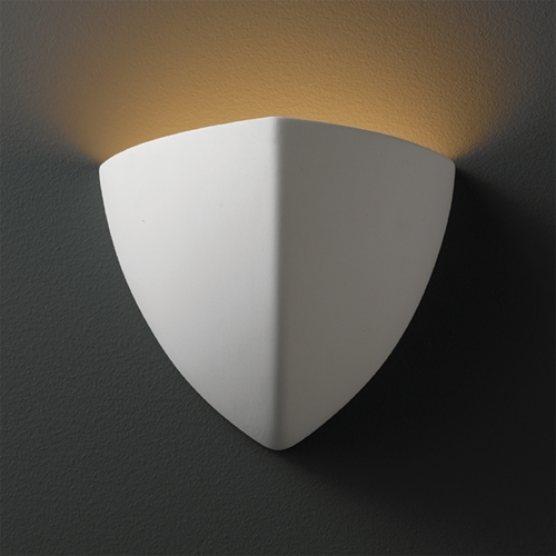 Justice Design Group Sconce Wall Light in Bisque Finish CER-1800-BIS
