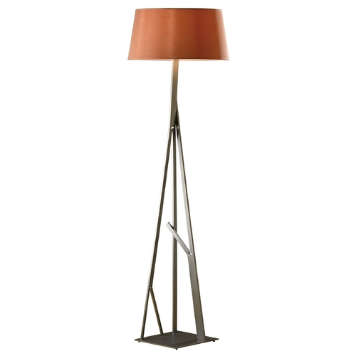 Hubbardton Forge Lighting Hubbardton Forge Lighting Arbo Burnished Steel Floor Lamp with Empire Shade 247690-08-681