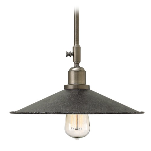Hinkley Lighting Hinkley Lighting Elliot Greystone Mini-Pendant Light with Coolie Shade 3054GS