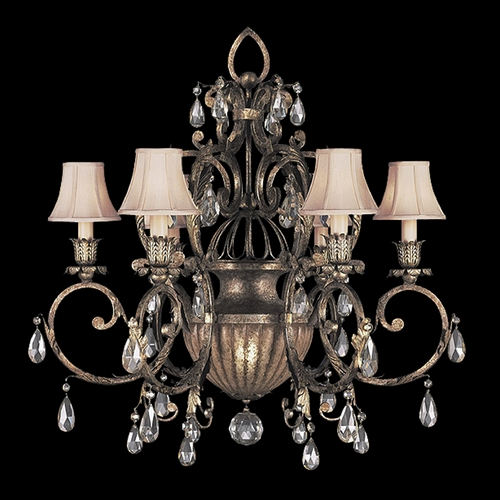 Fine Art Lamps Fine Art Lamps a Midsummer Nights Dream Cool Moonlit Patina Crystal Chandelier 161740ST