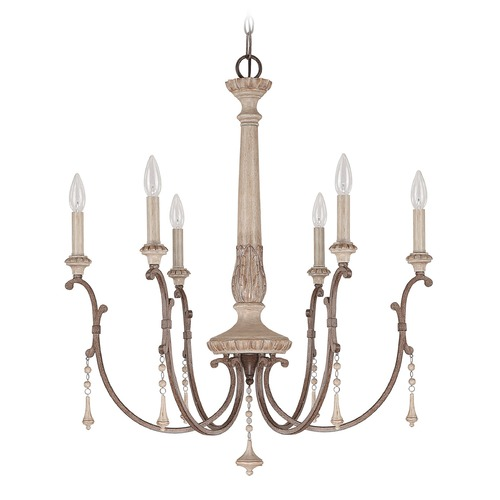 Capital Lighting Capital Lighting Chateau French Oak Chandelier 4096FO