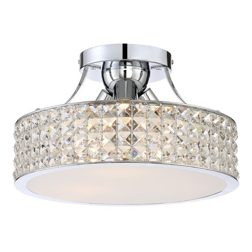 Quoizel Lighting Quoizel Lighting Platinum Collection Alexa Polished Chrome Semi-Flushmount Light PCAX1714C