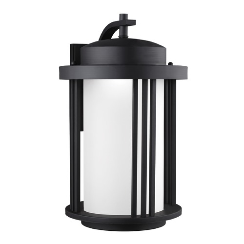 Sea Gull Lighting Sea Gull Crowell Black LED Outdoor Wall Light 8847991S-12