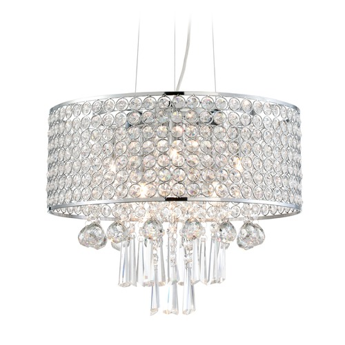 Lite Source Lighting Lite Source Mckayla Chrome Pendant Light EL-10140