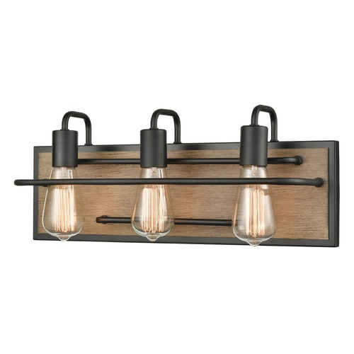 Elk Lighting Elk Lighting Copley Matte Black, Aspen Bathroom Light 45485/3