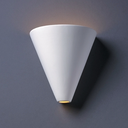 Justice Design Group Sconce Wall Light in Bisque Finish CER-2410-BIS