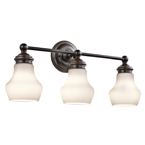 Kichler Lighting Kichler Lighting Currituck Oil Rubbed Bronze Bathroom Light 45488ORZ