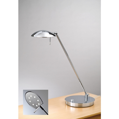 Holtkoetter Lighting Holtkoetter Modern LED Table Lamp in Chrome Finish 6477LED CH