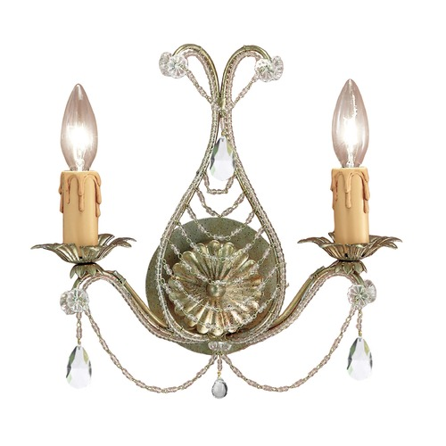 Crystorama Lighting Crystorama Lighting Paris Market Gold Leaf Sconce 4712-GL-CL-MWP