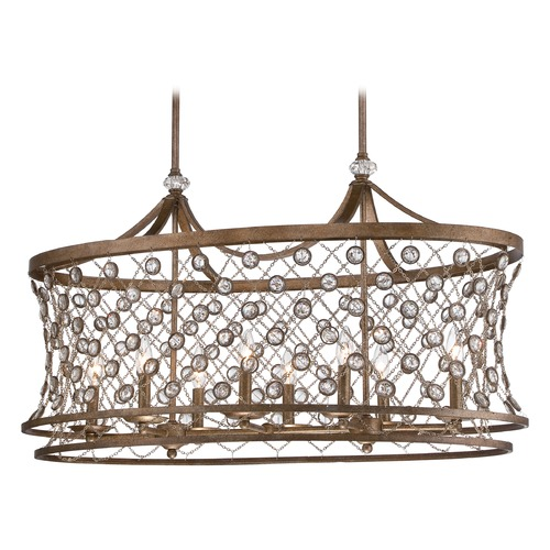 Metropolitan Lighting Metropolitan Vel Catena Arcadian Gold Island Light N6589-272