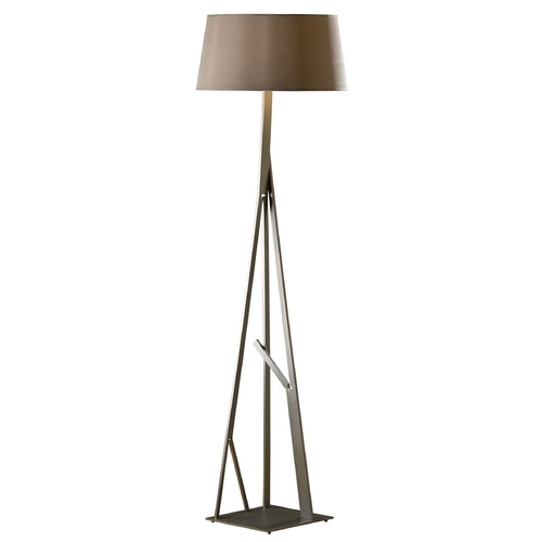 Hubbardton Forge Lighting Hubbardton Forge Lighting Arbo Burnished Steel Floor Lamp with Empire Shade 247690-08-682