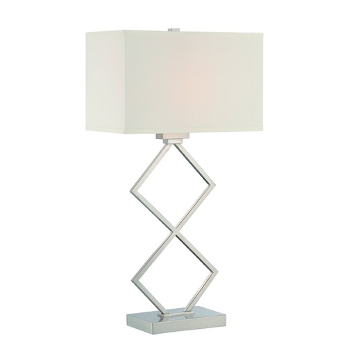 Lite Source Lighting Lite Source Caradoc Polished Steel Table Lamp with Rectangle Shade LS-22458