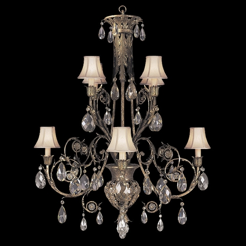 Fine Art Lamps Fine Art Lamps a Midsummer Nights Dream Cool Moonlit Patina Crystal Chandelier 162740ST