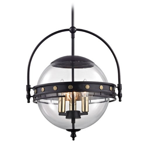Elk Lighting Elk Lighting Encompass Oil Rubbed Bronze Pendant Light with Globe Shade 14262/3
